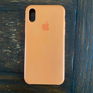 iPhone X/Xs Silicone Apple Logo Case Papaya Orange